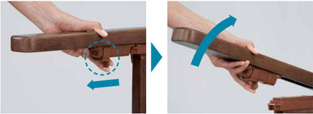 安寿 家具調スマートトイレNEOはねあげタイプ 家具調ポータブルトイレ の説明