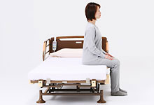 介護ベッド 2モーターベッド 和夢 雅 背/脚連動モーションタイプの説明