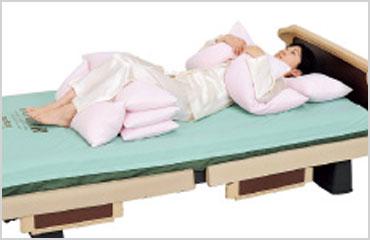 下肢拘縮の人の仰臥位