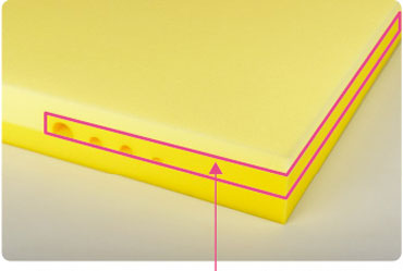 安定性の高い端部の構造
