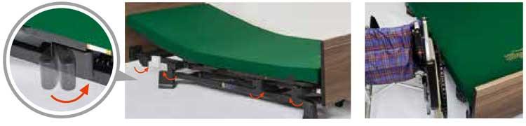 収納式サイドレールホルダー