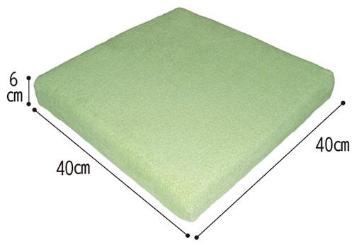ウェルファン 2層クッション 夢ごこち 標準タイプ クッション・座布団のサイズ