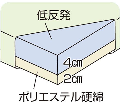 ウェルファン 2層クッション 夢ごこち 標準タイプ クッション・座布団
