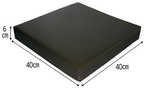 ウェルファン 2層クッション 夢ごこち 合皮レザータイプ クッション・座布団のサイズ