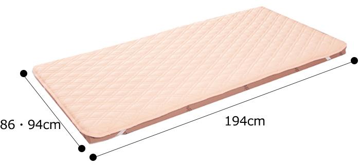 ナースカラーベッドパッド 2枚セットの説明