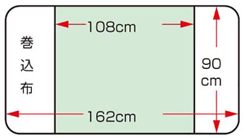 デニムラミネート 介護防水シーツ 2枚セットの説明