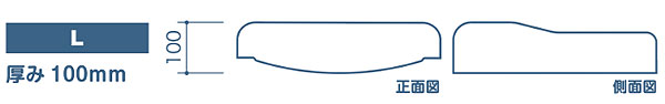 車いす用クッション COTEMALI (コテマリ)座面クッションC-40/C-38 L(厚み10cm)の説明