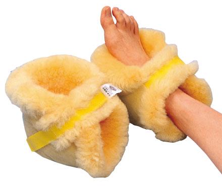 ナーシングラック かかとあて(2個1組)NR-08 床ずれ防止医療用羊毛の説明