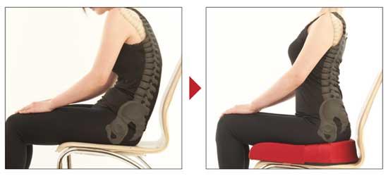 腰への負担を軽減