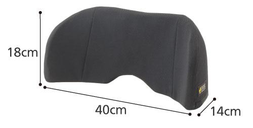 エクスジェルバッククッション ロータイプ 車椅子用背クッションのサイズ