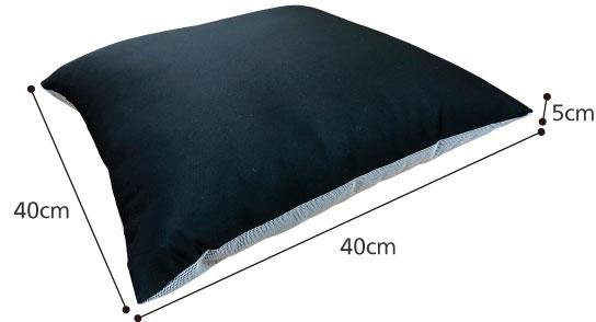 和風クッション 防水・すべり止めカバー付き 綿座布団の座りごこち 車椅子クッションのサイズ