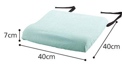 防水クッションカバー パイルタイプ1536 洗い替えに便利な2枚セット のサイズ