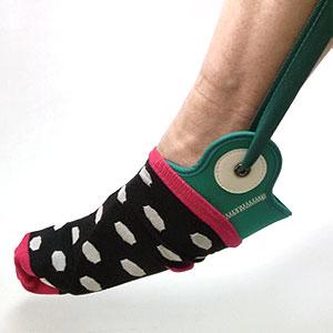 自力で履けルンです! 靴下エイド・靴下が履ける道具の説明