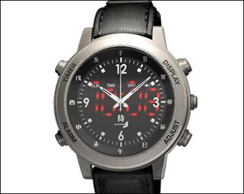 振動式アナログ・デジタル腕時計 侍 SAMURAIのデジタル表示