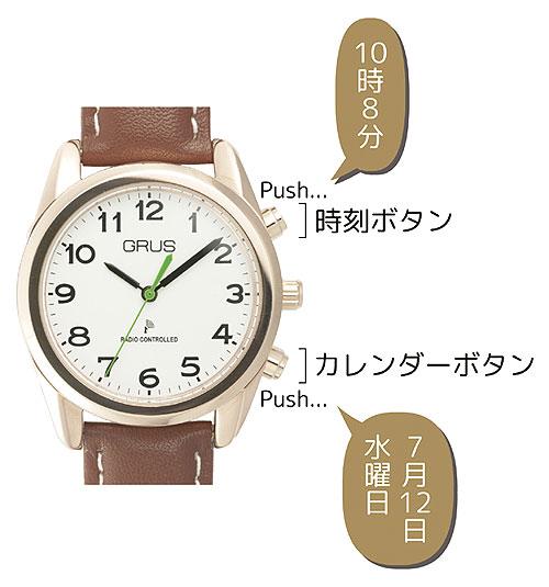 音声時計 ボイス電波腕時計