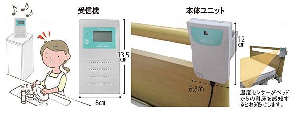 非接触型離床センサー 温度deキャッチ