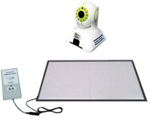 徘徊感知パルモケアシステム ふむコール(カメラ本体+マットセンサー+送信機セット) の説明