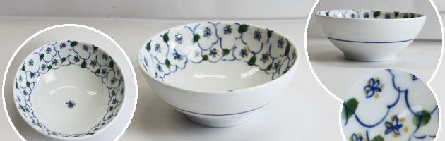 美濃美人 おかるのキモチ 青 食器4点セット 軽量強化磁器食器