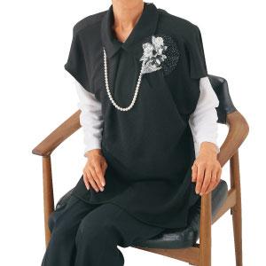 婦人ブラックエプロン ドレス風 フォーマル39867