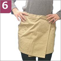 エプロン型クッションスカート ピーチスカート 衝撃吸収パット