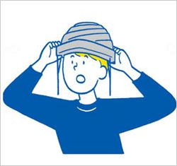 避難用簡易保護帽 でるキャップ コンパクトタイプ(1枚入り×2箱セット)