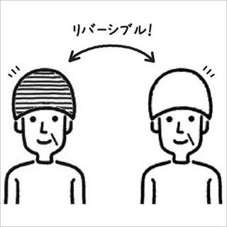 室内帽リバーシブルキャップ の説明