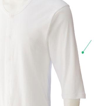 紳士 7分袖乾燥機対応ホックシャツ 3枚セット01909 名札付き