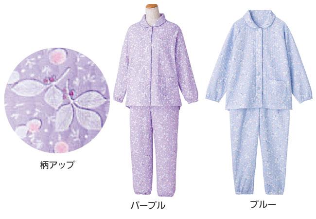 婦人 小柄な方におすすめ 大きめボタンプチサイズキルトパジャマ M・Lサイズ 89778  のカラー