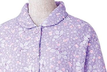 婦人 小柄な方におすすめ 大きめボタンプチサイズキルトパジャマ M・Lサイズ 89778