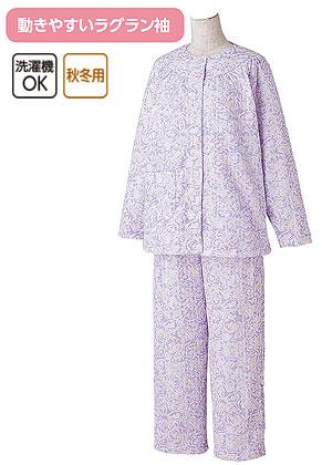婦人 ボタンの留め外しが楽な大きめボタンパジャマ S〜LLサイズ 89774 の説明