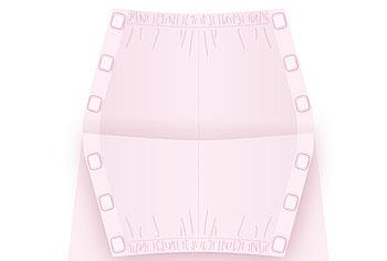 婦人 介護サポート ワンタッチテープ+腰開きキルトパジャマ 秋冬S〜LLサイズ 89790