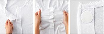介護肌着 紳士半袖シャツ ソフトワンタッチタイプ 4枚セット 入院・介護施設の入所に
