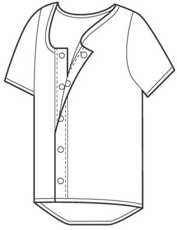 介護肌着 紳士半袖シャツ ソフトワンタッチタイプ 4枚セット 入院・介護施設の入所にの説明