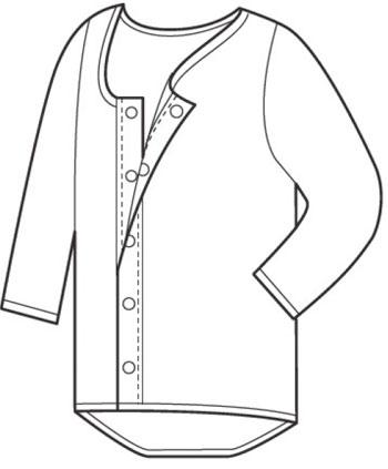 介護肌着 紳士7分袖シャツ ソフトワンタッチタイプ 4枚セット 入院・介護施設の入所に の説明