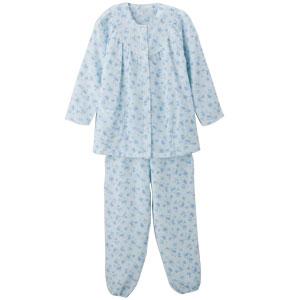 婦人着脱簡単キルトパジャマ 2枚セット 柄おまかせ秋冬