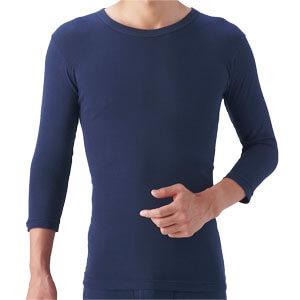 自然派発熱素材 ほっと綿 綿100インナー 紳士用7分袖 3枚セット