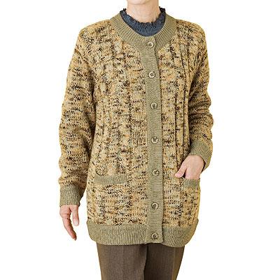 裏ボアニットジャケット 秋冬婦人用 A0389179