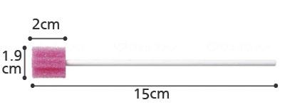 口腔ケア用スポンジブラシ サクラ 250本入 SAK250の寸法図