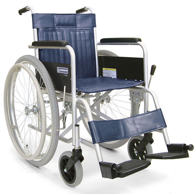 スチール製自走用車椅子 KR801Nエアタイヤ 座幅42cm 病院・施設の説明