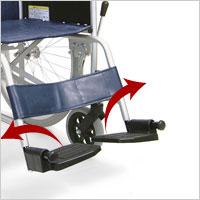 スチール製自走用車椅子 KR801Nソフトタイヤ 座幅42cm 病院・施設の説明