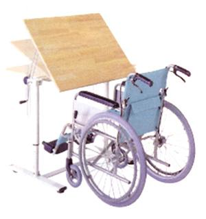 高さ調節機能付リハビリテーブル(机・つくえ)【角度調節タイプ】 角度調節