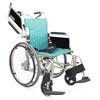 アルミ製自走用車椅子軽量簡易モジュール高床KA822L-40(38・42)B-HS