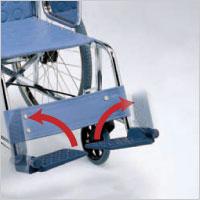 跳ね上げ式フットレスト