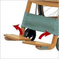 木製車いす 自走式 Swan1の説明