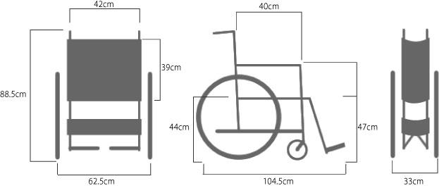 スチール製スタンダード車椅子 DM-81 病院向けの説明