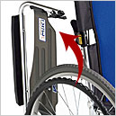 介助用車椅子 BAL-4 スイングアウト ハイポリマータイヤ 病院・施設向けの説明