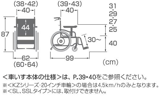 電動ユニット車椅子BM22-40(38・42)SB-M-ABF2/JWX-1N 自走用操作ユニットのみ BM22の説明
