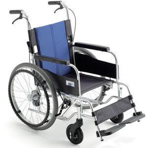 座面高さ調節+低座面車椅子 自走用 BAL-1S 介助ブレーキあり