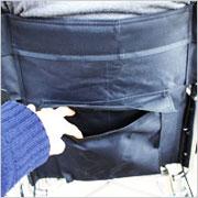 カラーコンパクト自走用車椅子 パレット ブラック-400-Sシルバーカーと介助車の2WAYタイプの説明