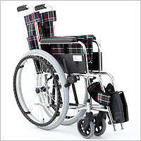 自走用車椅子 リーズ MW-22ST スチール製